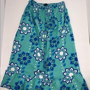 Seafoam green w/ blue flowers dress Torrid